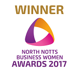 Winner of North Notts Business Women Award 2017 - Women in Tech